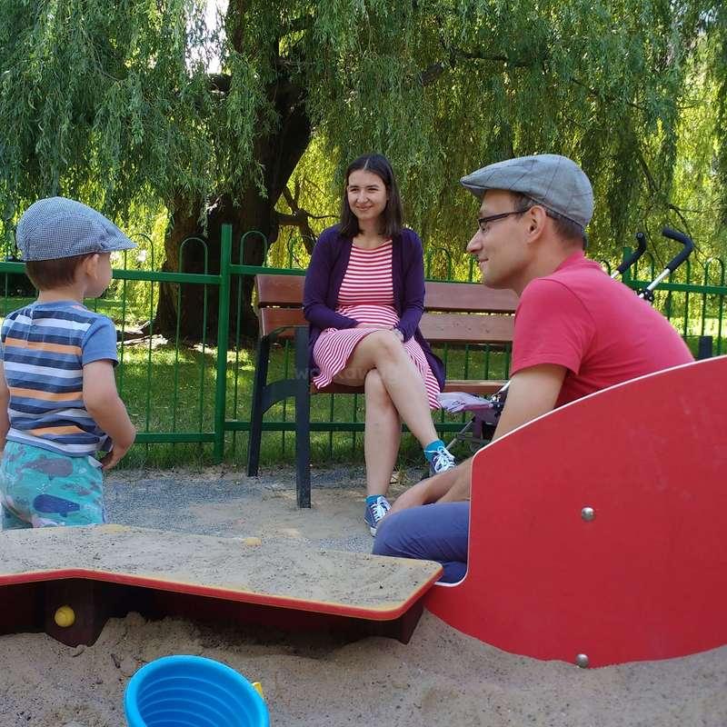 Sympathique Famille Dans La Charmante Ville De Cracovie Pologne