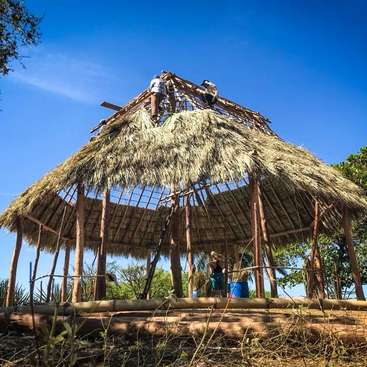Learn natural building in a beachfront eco-friendly