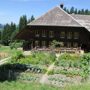 On A Small Farm Living In Nature Typical Old Swiss Farmhouse Emmental