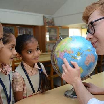 A qualified teacher for a charity run school in a very rural
