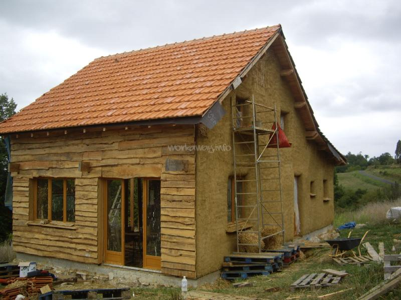 Help us build our straw bale house in the dordogne for Help building a house