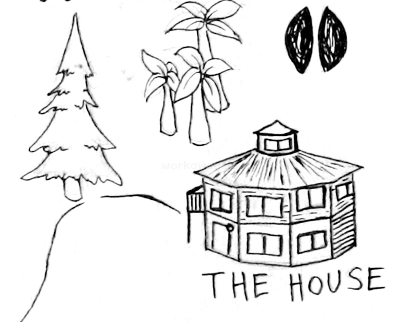 e to hawaii and help out at our anic tree farm The Middle House our house is a very very very fine house with two cats in the yard detail