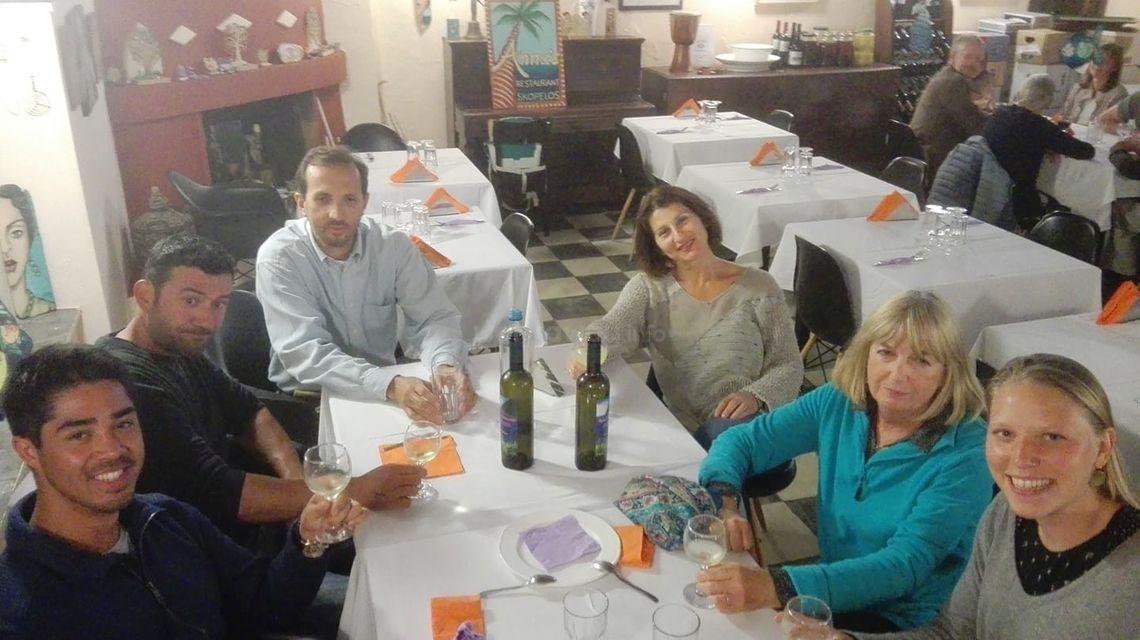 workaway host meal Greece
