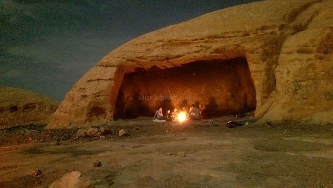 jordan wadi rum outdoor campfire desert night
