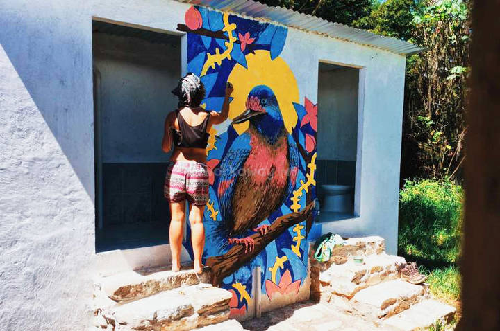skill wall mural artist