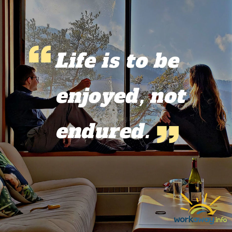 quote-two people drinking wine on window sill with view