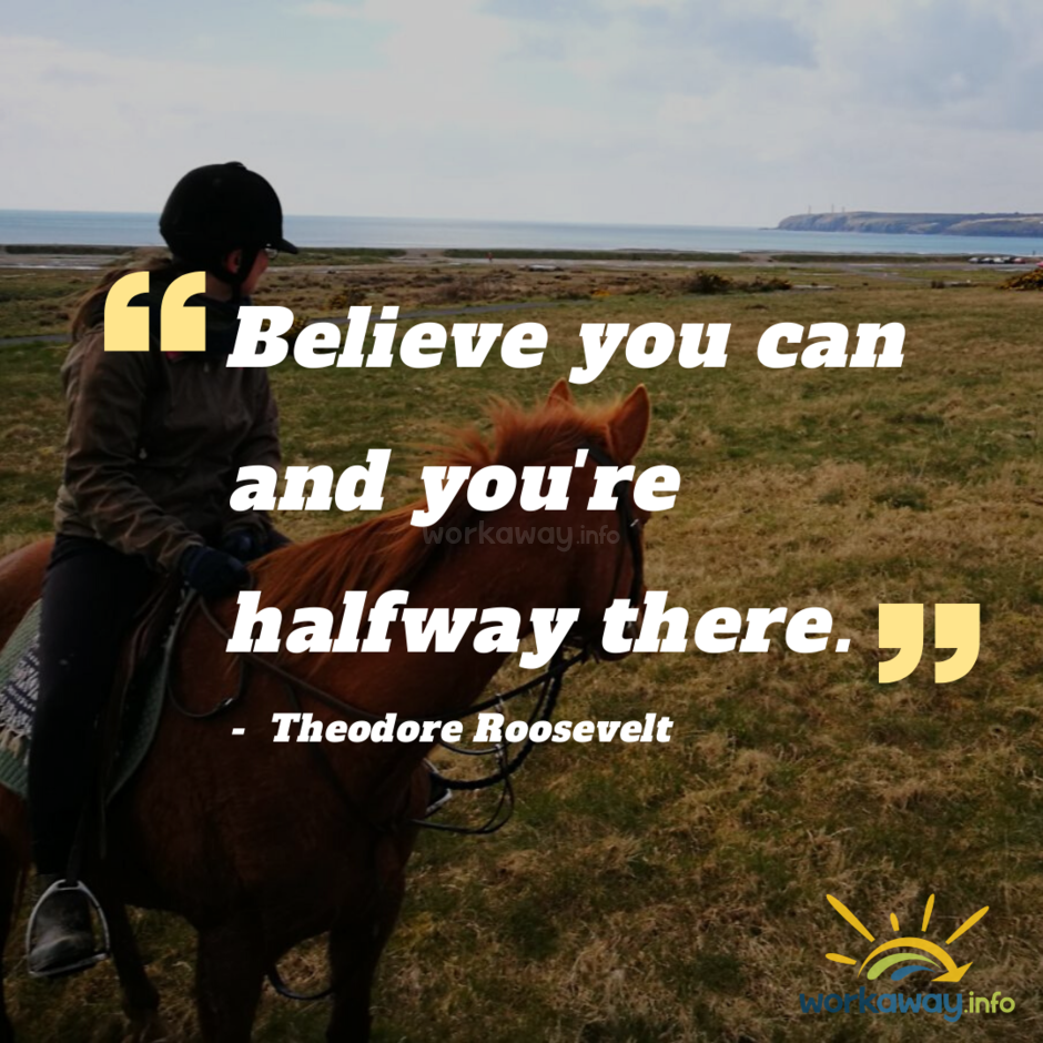 believe you can and you're halfway there quote