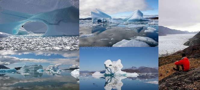 hiking icebergs greenland Mellemlandet