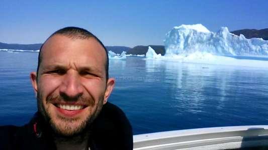 Iceberg selfie greenland adventure budget traveller