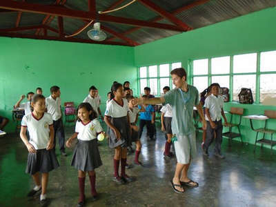 guatemala classroom fun with workawayer