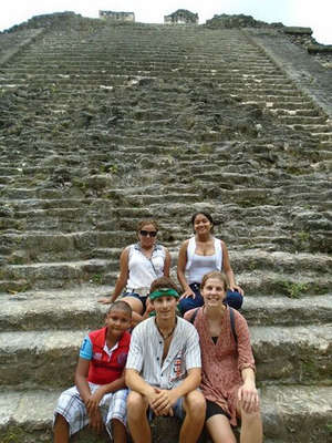 sightseeing with workaway host family