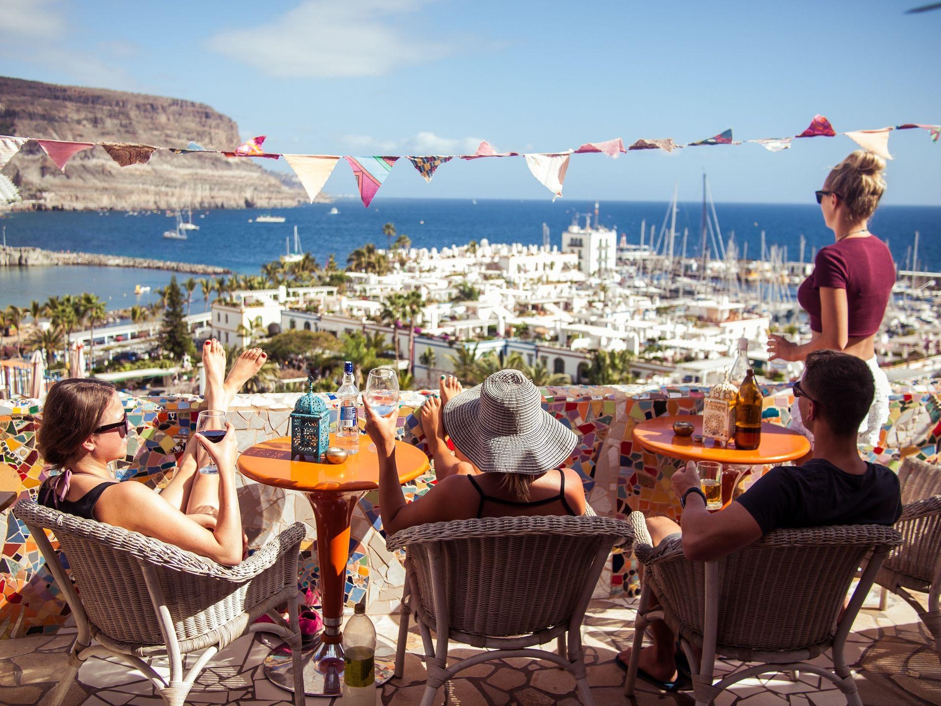 Spain backpacking adventures group friends travel workaway relax wine harbour spain
