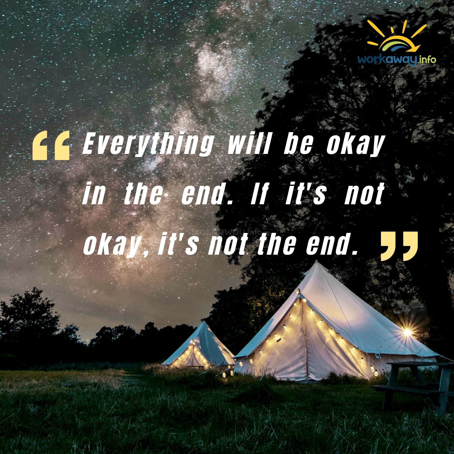 everything will be ok john lenon quote-starry night outside