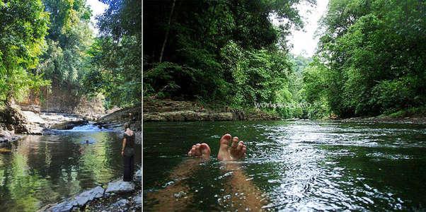waterfall swim