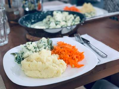 Lithuania cuisine potato salad