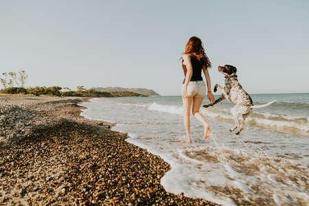 dog walking memory travel beach workaway