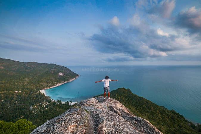 travel hiking scenery sea embrace world