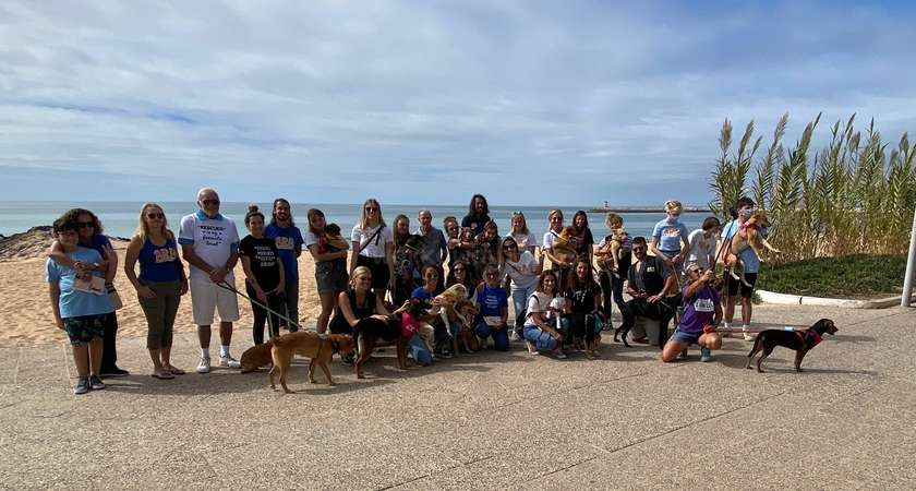 dog walking excursion workaway group portugal