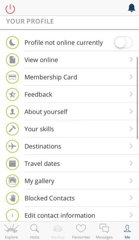 workaway app my profile update destinations