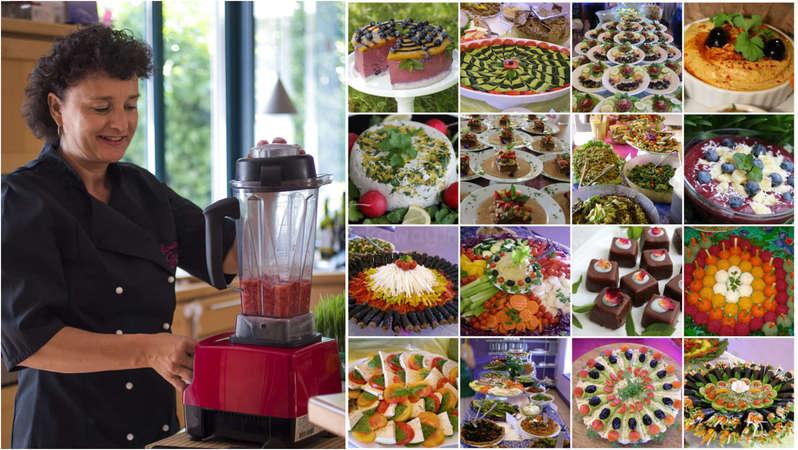 workaway Gisela raw food cooking collage chef