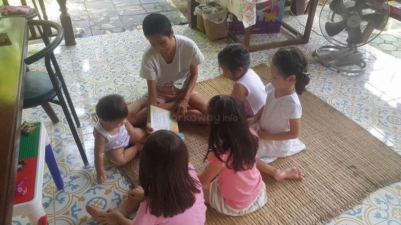 workaway local class children group