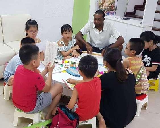 Kenneth workaway teaching small class in Taiwan