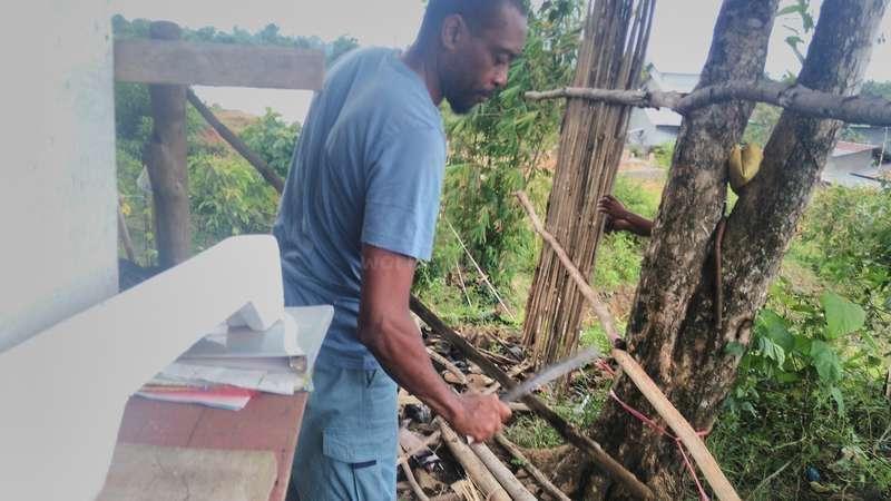 Kenneth outdoor workaway volunteering outdoor sawing wood