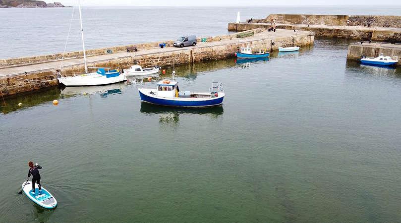 Scotland nature sea boats standup paddle