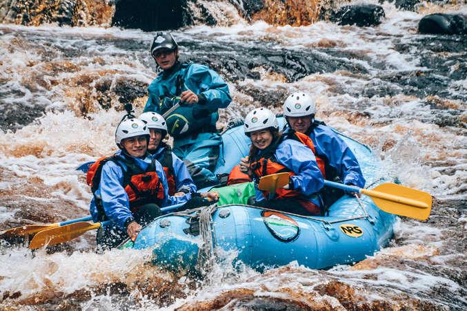 workaway Scotland rafting fun