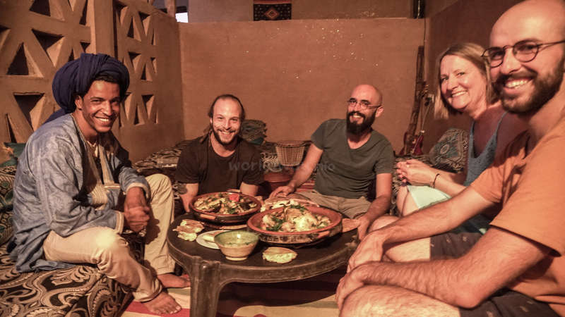 Morocco meal cultural exchange group gap year experience