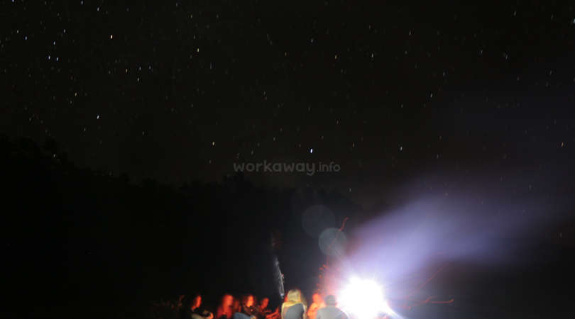 workaway community enjoy campfire stars night bolivia nature
