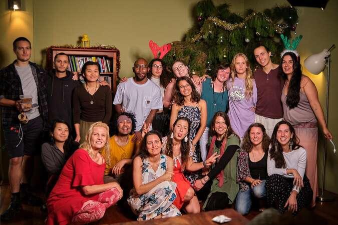 workaway yogic travel tribe Christmas celebration group
