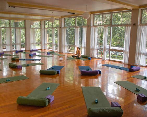 yoga meditation solo traveller in studio inner transformation