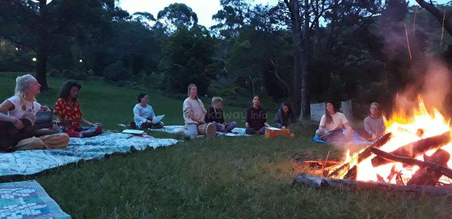 yogic tribe campfire music forest joy