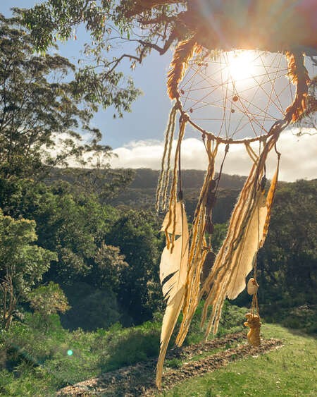 nature outdoor yoga haven forests dreamcatcher sunset