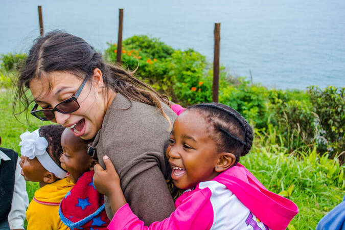 soft skills volunteer abroad hang out with kids workawayer fun games with laughing children