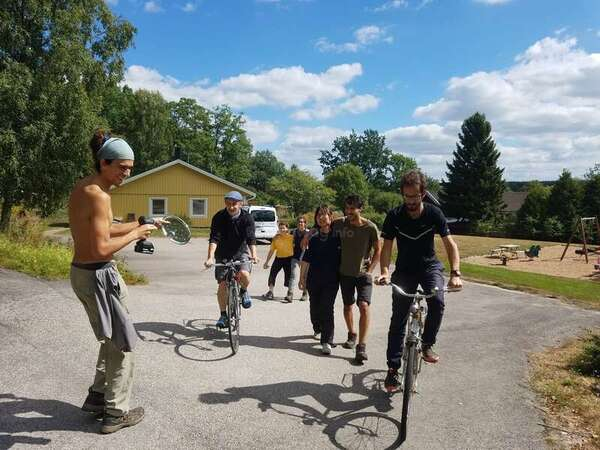 explore Swedish outdoors nature on bike cycling workawayer community excursion healthy adventure