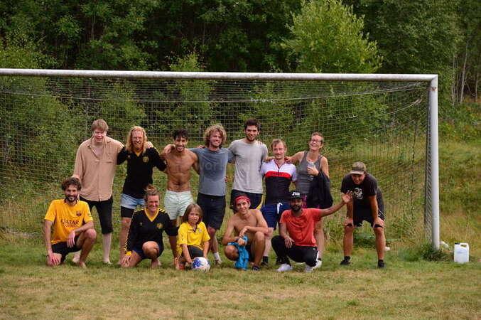 workaway volunteer team football soccer outdoors fun
