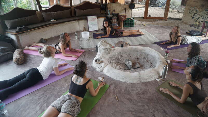 volunteer abroad yoga lesson mexico eco retreat events alternative travel