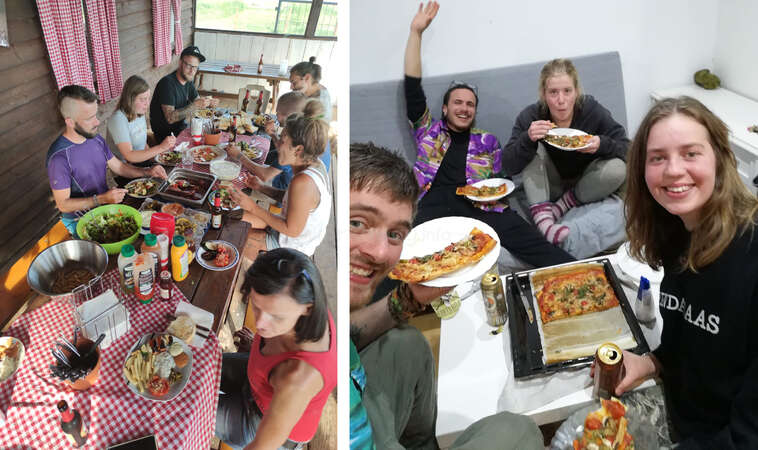 volunteer abroad share plant based meals workaway hosts community fun