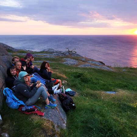 adventure with workaway travel buddies outdoors by the sea sunset