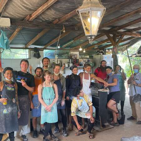 pizza making travel tribe group happiness