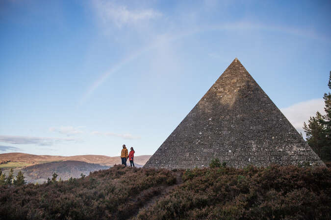 Balmoral pyramid explore differently as a travel workaway couple rainbow background