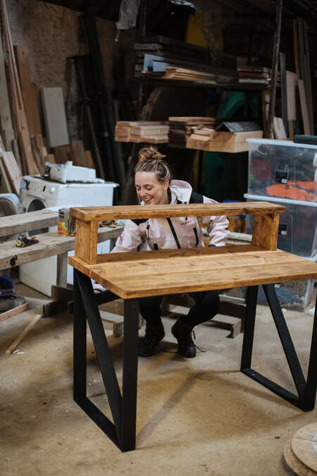 alternative travel experience wood furniture building learning